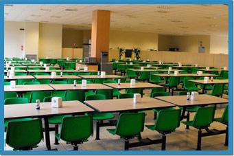 Sedie e tavoli per mense aziende scuole self service belca