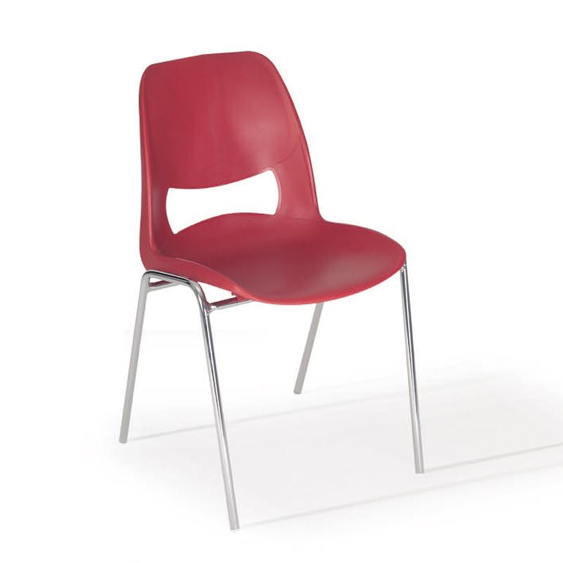 Sedute In Plastica Per Sedie.Sedia Rossa In Plastica Belca